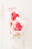 Heart-shaped cake pops as a gift