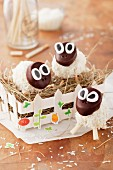 Sheep-shaped cake pops