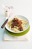 Fusilli bolognese with Parmesan