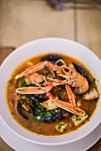 Seafood stew with langoustines