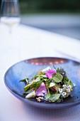 Kräuter und Blüten-Salat mit Kräutervinaigrette