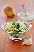 Parsnip and pear salad