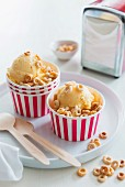 Ice cream with cereals