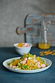 Chicory salad with orange wedges