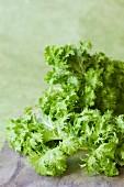 Fresh wasabi leaves