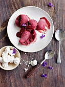 Kir Royal sorbet (seen from above)
