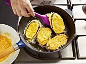 Auberginen-Piccata zubereiten