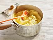 Polenta in a saucepan