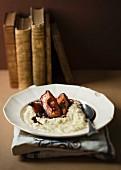 Gewürzter Reispudding mit Portwein-Quitten