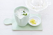 A creamy dressing with lemon and herbs
