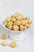 A bowl of macadamia nuts