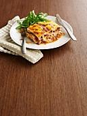 Lasagne with prosciutto and porcini mushrooms
