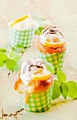 Lemon and basil muffins