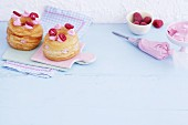Croissant-Doughnuts with raspberry cream cheese