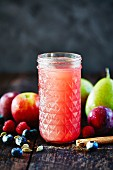 Russian fruit compote (summer drink, Russia)