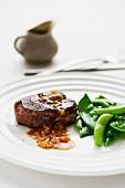 Fillet steak with ginger sauce