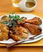Herb chicken, sliced