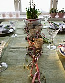A festively laid table for Mother's Day