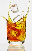 A whisky splashing