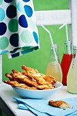 Cheese pastries and lemonade for a party