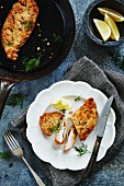 Chicken escalope with lemon