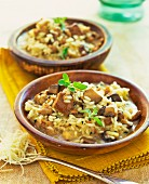 Risotto with mushrooms and grated cheese