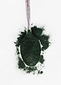 A spoonful of spirulina powder