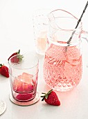 Strawberry Blush with rum, strawberry liqueur and white wine