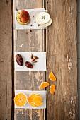 Birne, Dattel und Tangerine