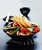 Vegetables with udon noodles