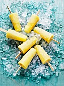 Exotic fruit ice cream sticks