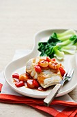 Fish fillet with sweet-and-sour sauce