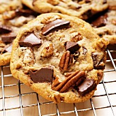 A chocolate pecan cookie (USA)