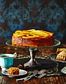 Syrup cake with oranges