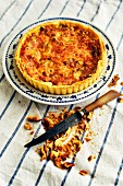 Leek and cheese tart