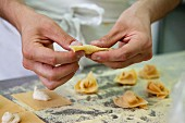 Home-made tortellini