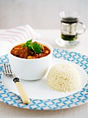 Lamb tagine with couscous, Morocco