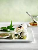 Rice paper rolls, Vietnam
