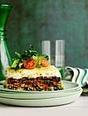 Lasagne mit Rindfleisch und Gemüse