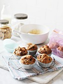 Bran muffins with blackberries