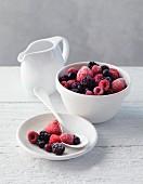 Mixed frozen berries