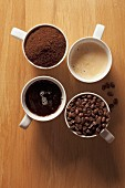 An arrangement of coffee