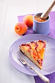 Marzipan cake with apricots