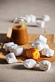 Butterscotch sauce with marshmallows