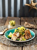 Grilled fish with pineapple salsa (Mauritius)