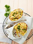 Pasta bake with ham