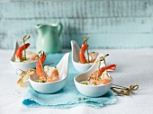 Prawn skewers with herb mayonnaise