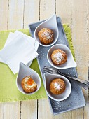 Rice balls with an apricot filling