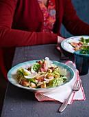Caesars Salad mit Feigen