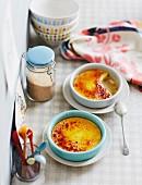 Creme brulee mit Vanille und Safran